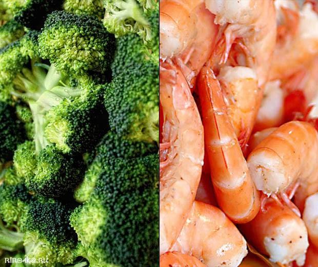 Рецепты тайской кухни с брокколи и креветками