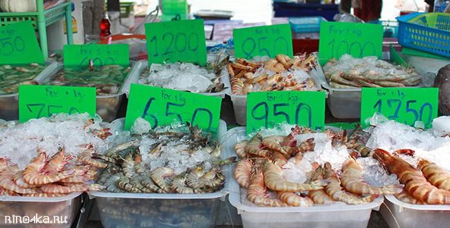 морепродукты на Пхукете пляж Равай